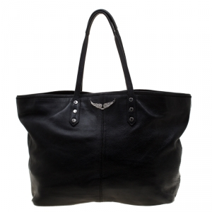 Zadig and Voltaire Black Leather Mick Tote