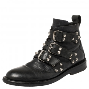 Zadig and Voltaire Black Leather Studded Laureen Ankle Boots Size 41 - used