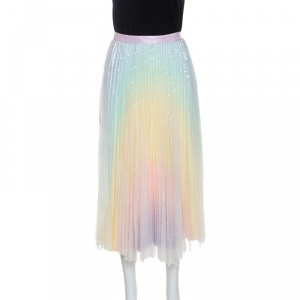 Zimmerman Multicolor Sequin Embellished Tulle Midi Skirt XS