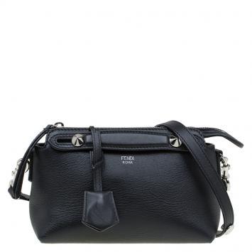 383d8e0ed375 Fendi Black Leather Large 3D Claudia Shoulder Bag