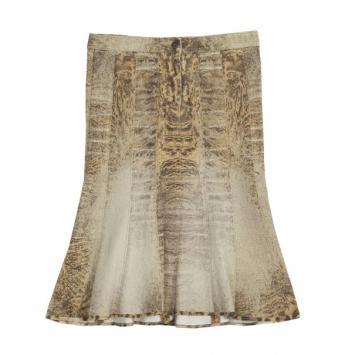 bc3b867ff1 Roberto Cavalli Pink Satin Floral Print Ruffled Bottom Maxi Skirt L