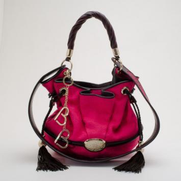 0b94d522a083 Lancel Blue Croc Embossed Leather Premier Flirt Bucket Bag