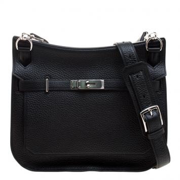 Hermes Black Clemence Leather Palladium Hardware Jypsiere 28 Bag b3b287b9fc083