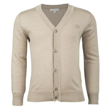 d9a5cb53 Gucci Beige Cashmere Blend Knit Long Sleeve Button Front Cardigan 4 Yrs