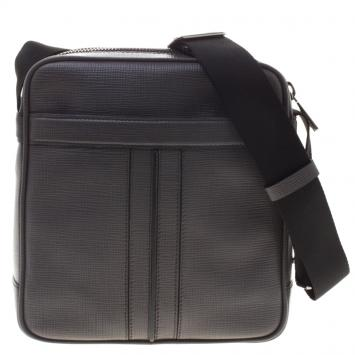 Tod s Grey Leather Double Stripe Reporter Bag ... e02ada958e55a