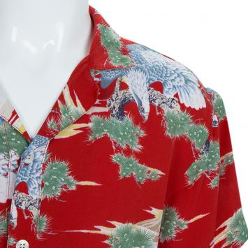 95725407 Added to Cart. Gucci Multicolor Eagle Print Short Sleeve Buttondown Shirt 8  Yrs