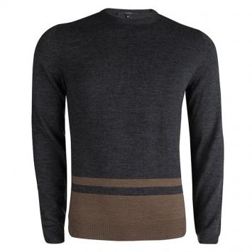 31fd981dfd9 Gucci Grey Wool Crew Neck Sweater ...