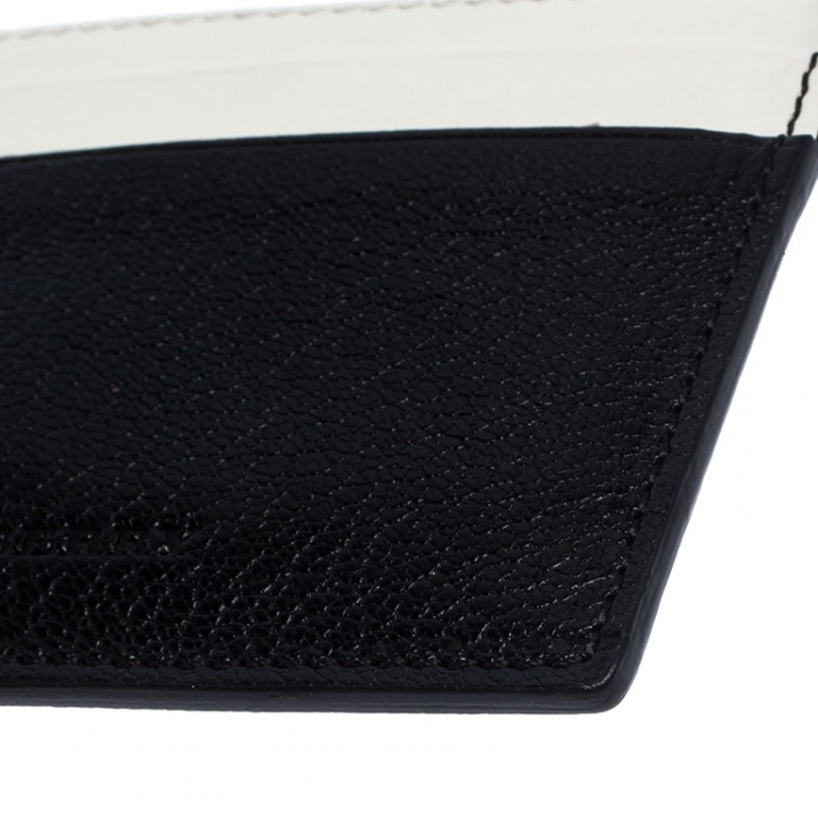 Burberry Black/White Leather Card Case