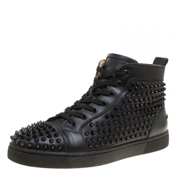 Christian Louboutin Black Leather Louis