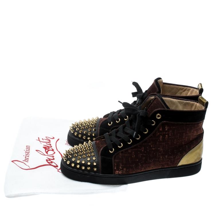Christian Louboutin Black/Gold Leather