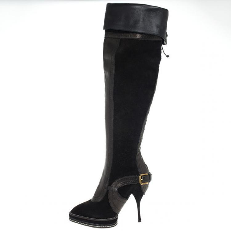 Christian Dior Black Suede \u0026amp