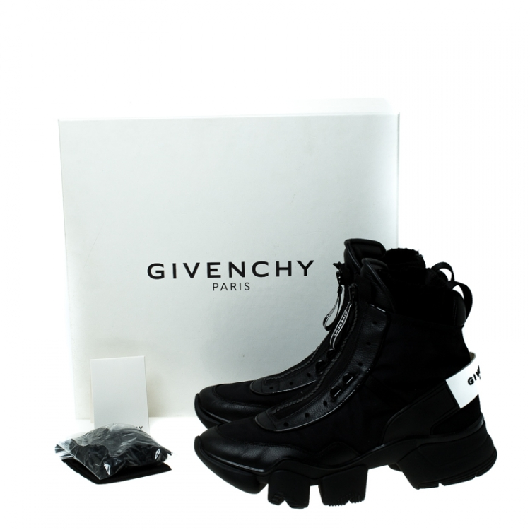 Givenchy Black Nylon and Leather Jaw