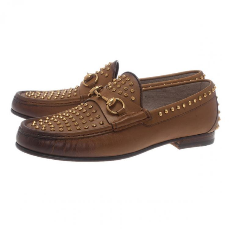 Gucci Brown Leather Studded 1953