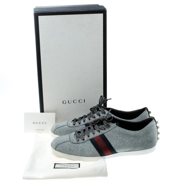 Gucci Metallic Silver Glitter Coated
