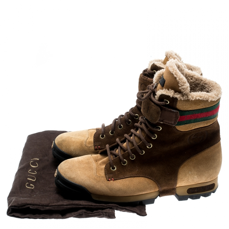 gucci boots lace up
