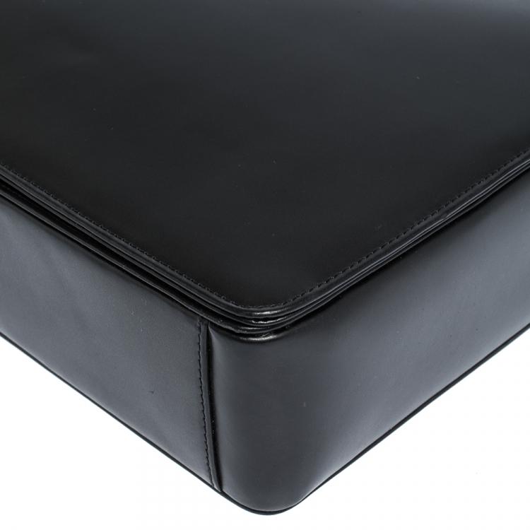 Porsche Design Black Leather Cervo 2.0 Laptop Messenger Bag