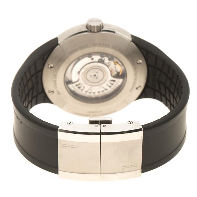 Porsche Design White Stainless Steel Flat Six P'6300 Men's Wristwatch 44 mm