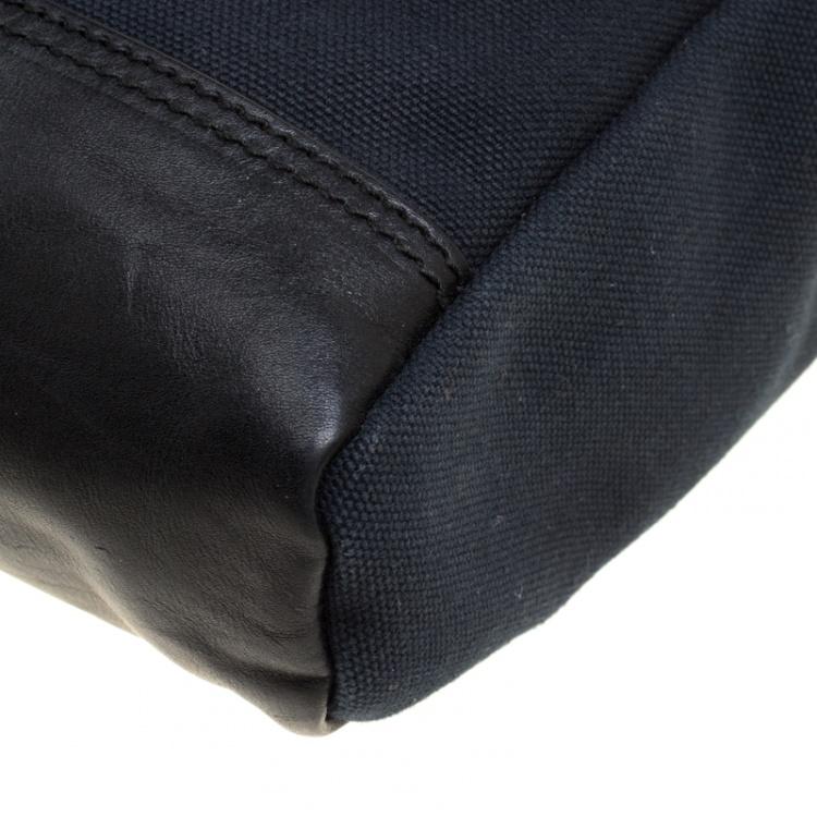 Saint Laurent Black Canvas Hunting Crossbody Bag