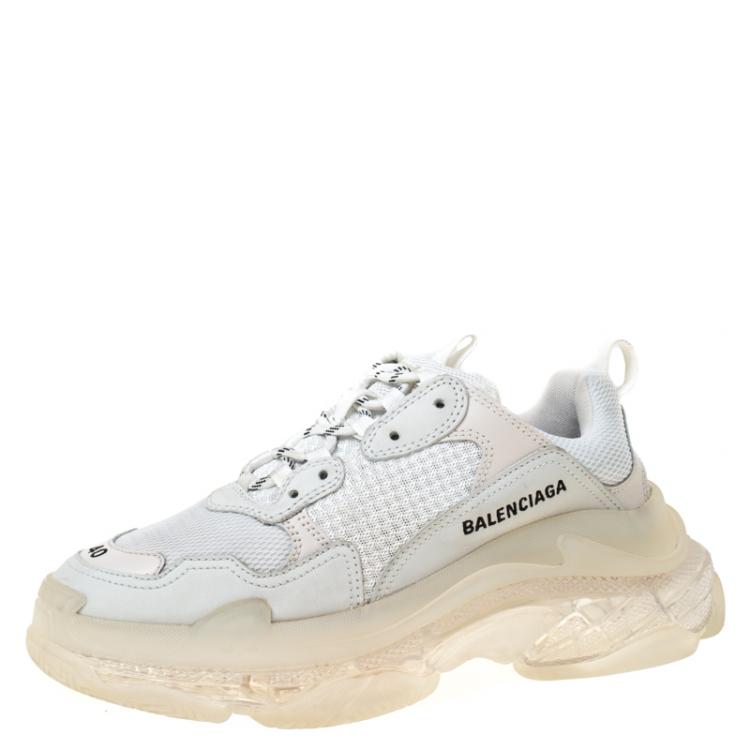 Clear Sole Platform Sneakers