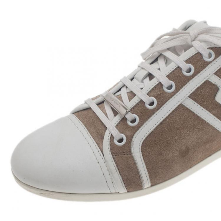 Dior Homme Beige Suede and Leather Sneakers Size 40