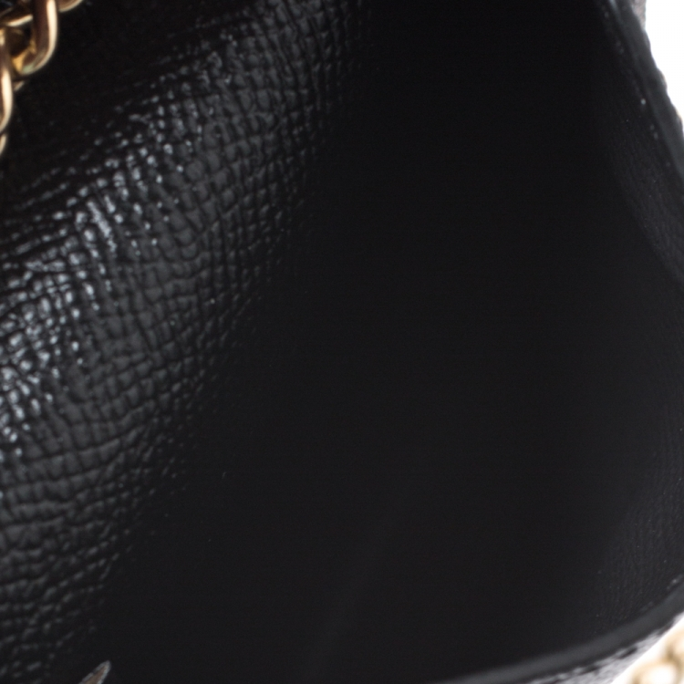 Coach Black Leather Crossbody Phone Pouch