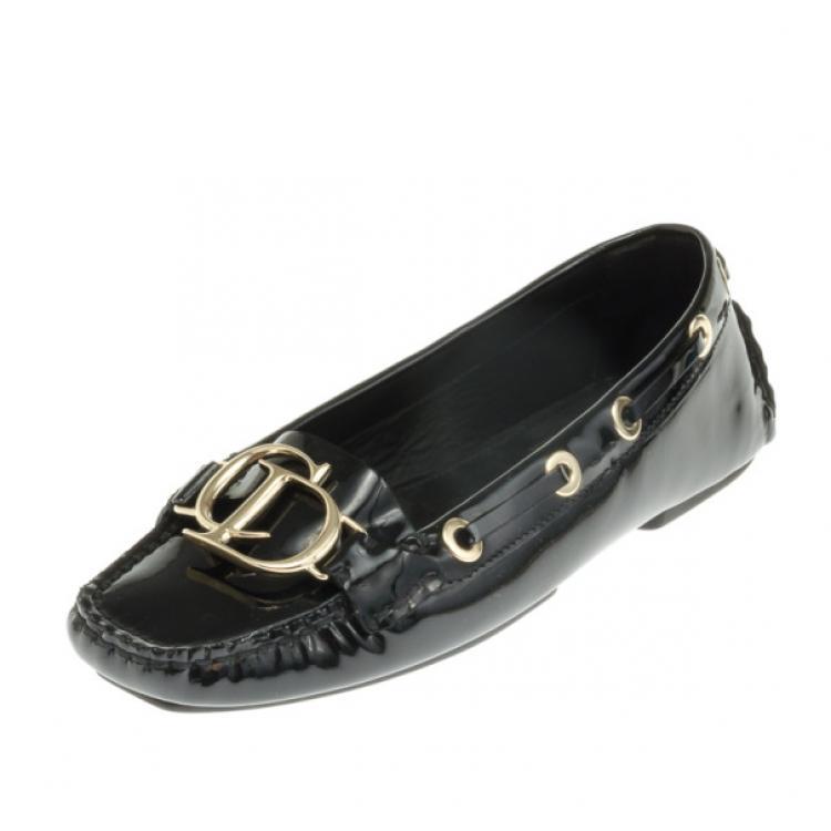 Christian Dior Black Patent Leather 'CD