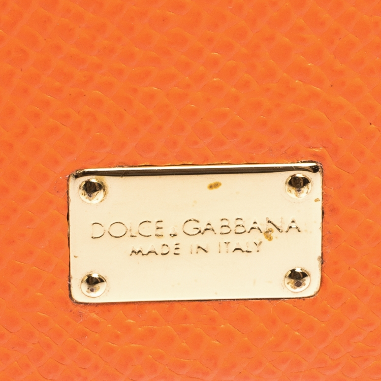 Dolce & Gabbana Orange/Black Leather iPhone 6 Case