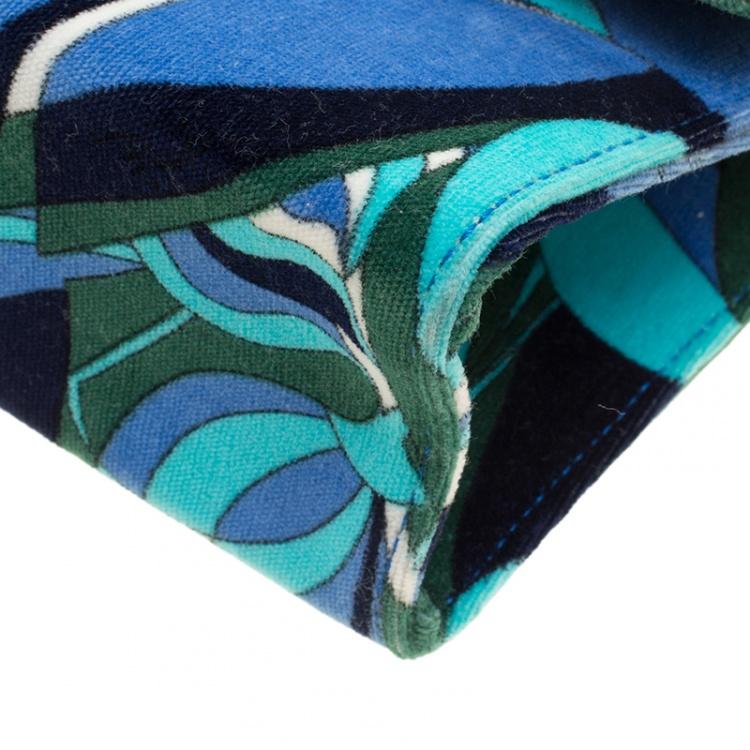 حقيبة إيميليو بوتشي قطيفة مطبوعة متعددة الألوان بيد علوية