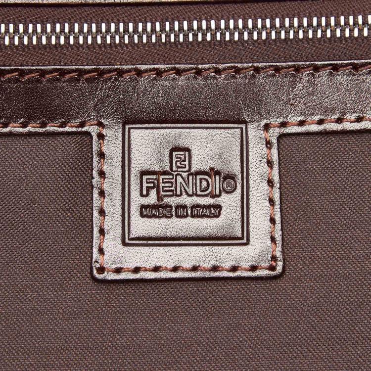 Fendi Black/Brown Zucca Canvas Travel Bag