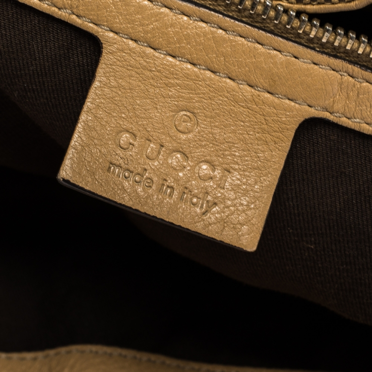 Gucci Beige GG Canvas and Leather Charlotte Hobo