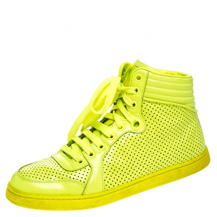 Gucci Neon Green Perforated Leather