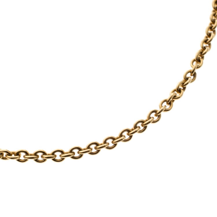Hermes Chaine d'Ancre Mini 18k Yellow Gold Toggle Bracelet