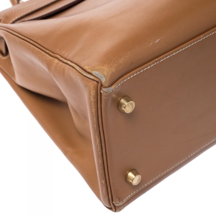 Hermes Natural Tadeklat Leather Gold Hardware Kelly Retourne 32 Bag