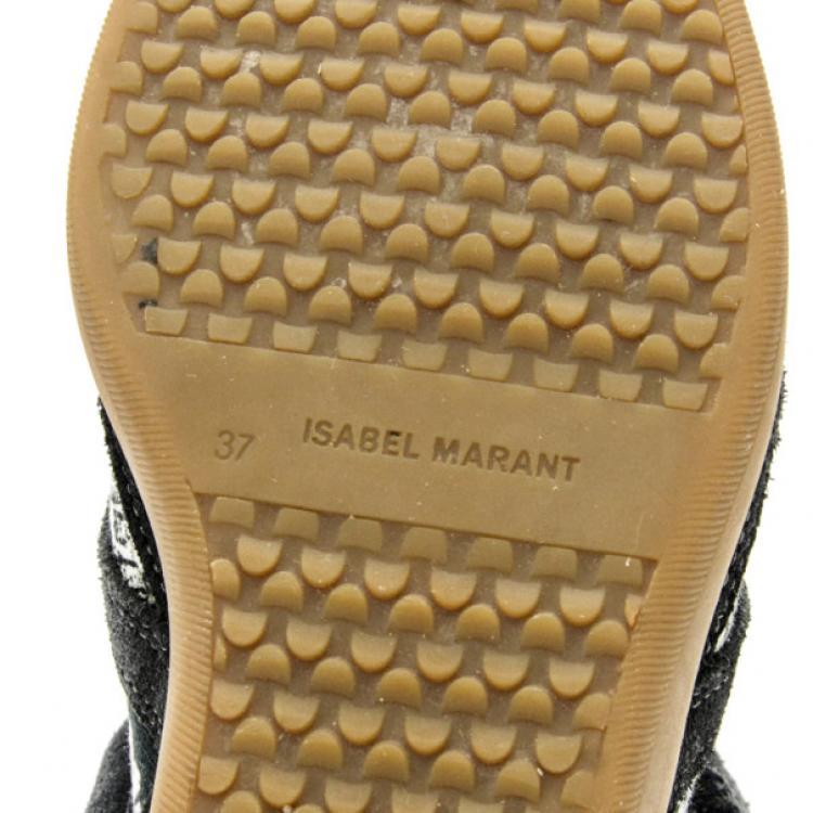 Isabel Marant Black Bekett Wedge Sneakers Size 37
