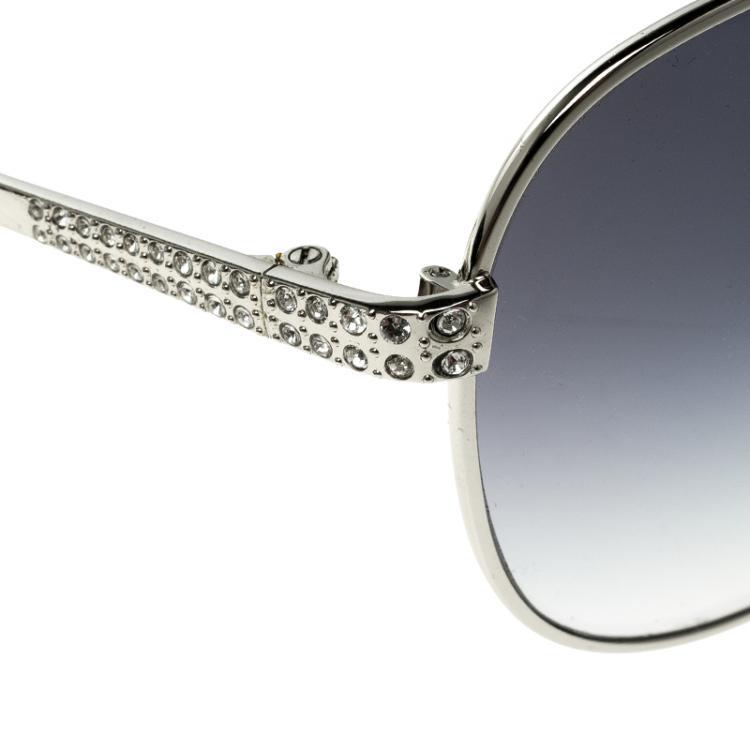 Korloff Silver/Black Gradient KOR2024 Aviator Sunglasses