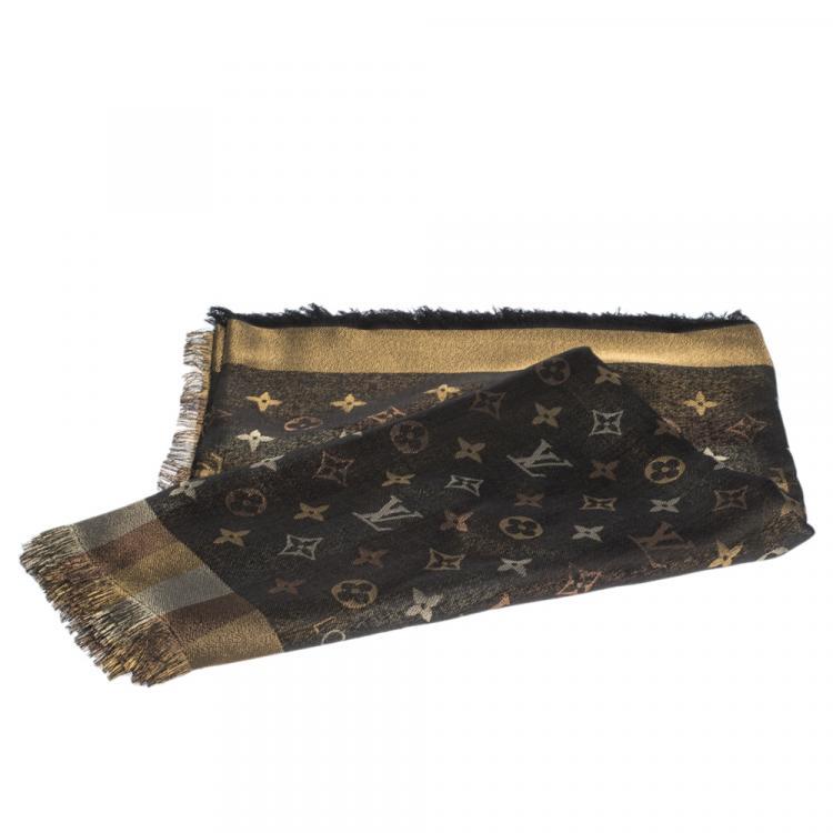 Louis Vuitton Black Monogram So Shine Shawl