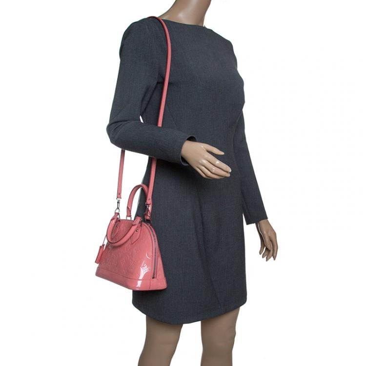 Louis Vuitton Rose Litchi Monogram Vernis Alma BB Bag