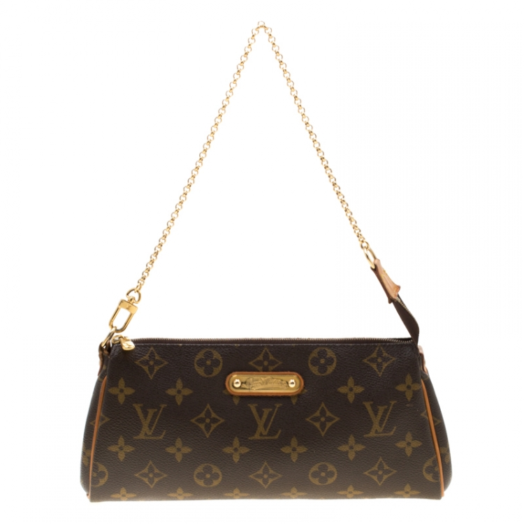 Louis Vuitton Monogram Canvas Eva Pochette Bag by LOUIS VUITTON, available on theluxurycloset.com for £397 Kendall Jenner Bags Exact Product