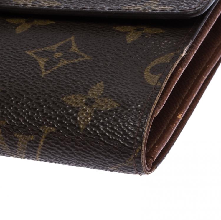 Louis Vuitton Monogram Sarah International Tri Fold Wallet Louis Vuitton Tlc