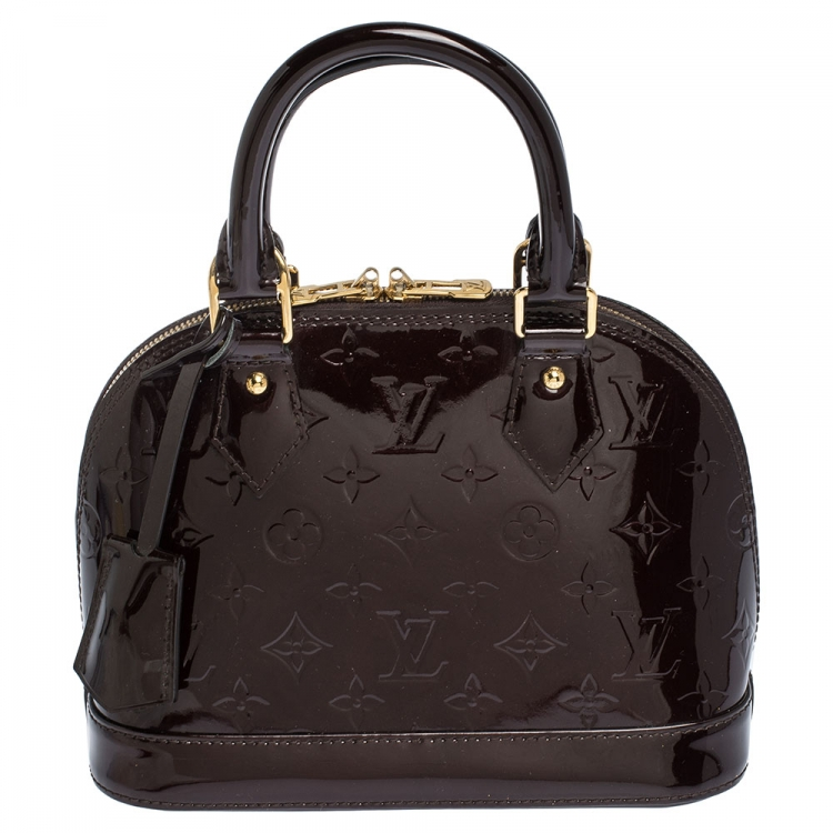 Louis Vuitton Amarante Monogram Vernis Alma Bb Bag Louis Vuitton Tlc