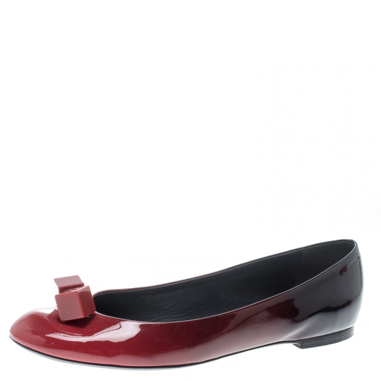 Louis Vuitton Red Ombrè Patent Leather