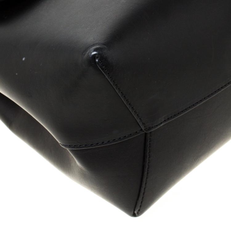 Mansur Gavriel Black Leather Lady Top Handle Bag
