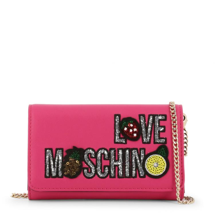 Love Moschino Pink Faux Leather WOC Clutch Bag