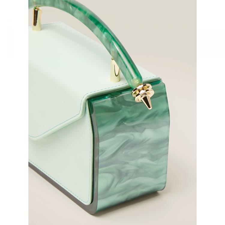 Okhtein Green The Dalilah Malachite and Leather Bag