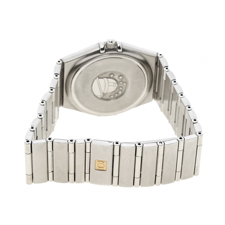 Omega Silver White Stainless Steel Constellation 1532 Women's Wristwatch 33 mm