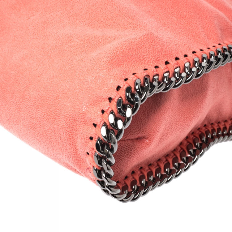 Stella McCartney Orange Faux Leather Small Falabella Tote
