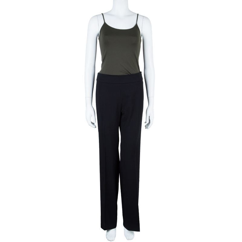 Max Mara Black Straight Fit Trousers S