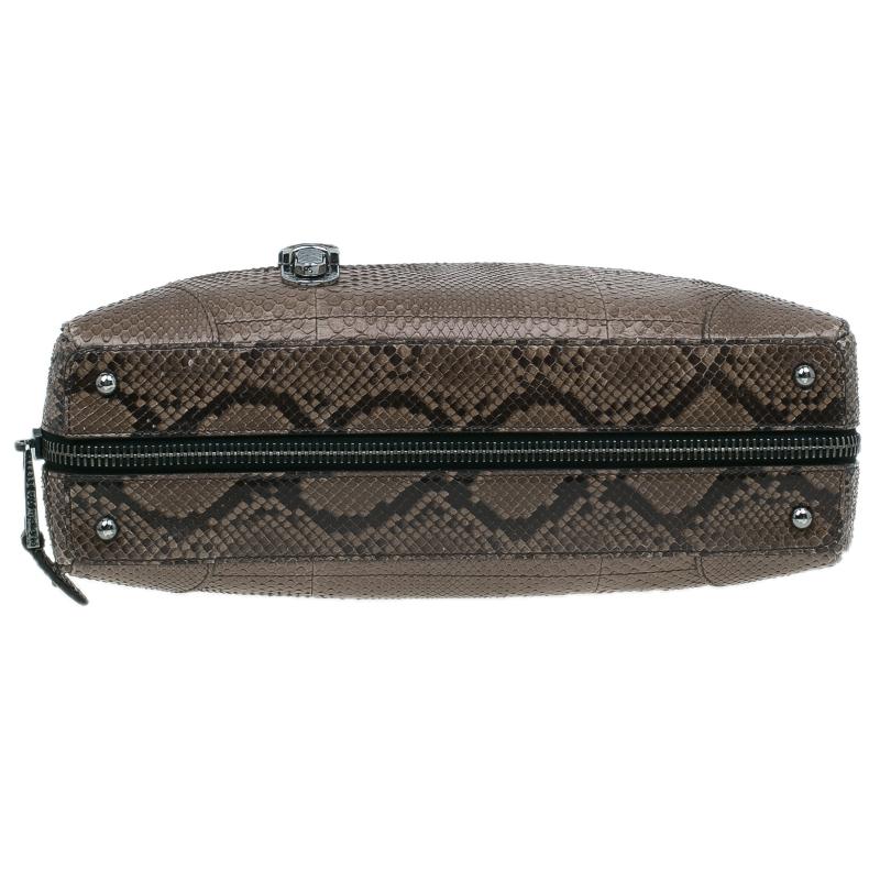Marc Jacobs Brown Python Small Venetia Bowler Bag
