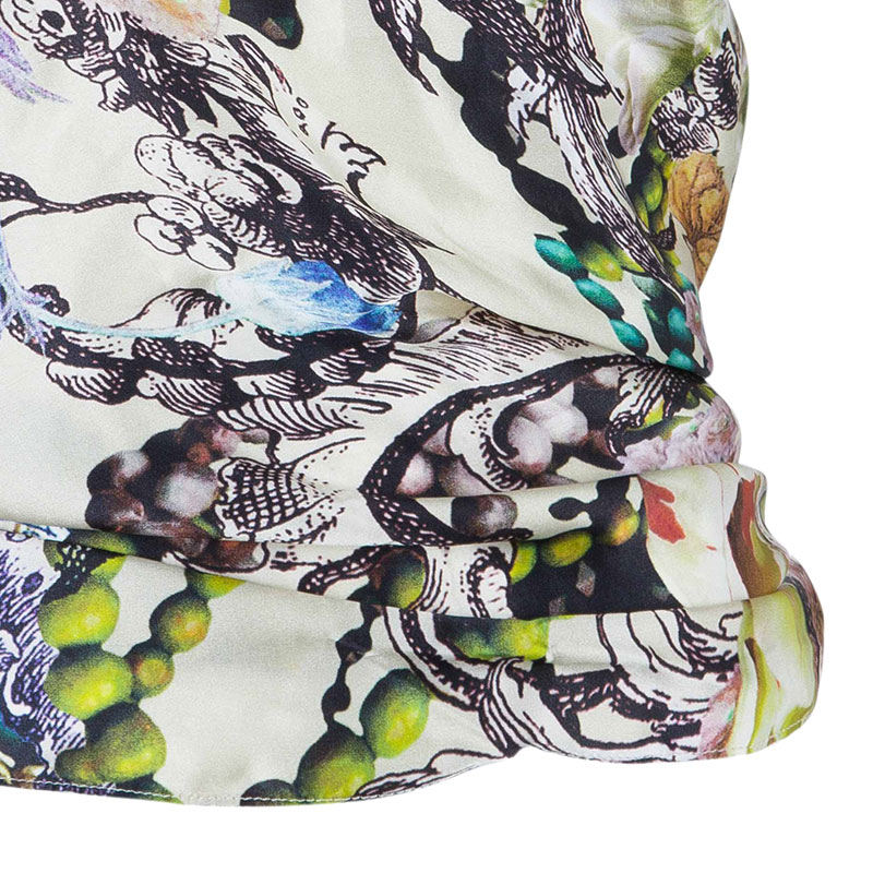 Reem Acra Multicolor Silk Sleeveless Top S