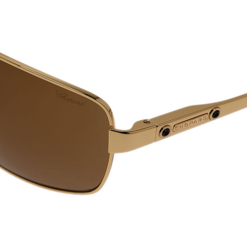 Chopard Gold SCH933 Rectangle Aviators